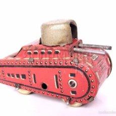 Juguetes antiguos de hojalata: TANQUE / TANQUETA CARRO DE COMBATE DE CHAPA / HOJALATA JUGUETE FRANCES SFA PARIS AÑOS 50. Lote 56960191