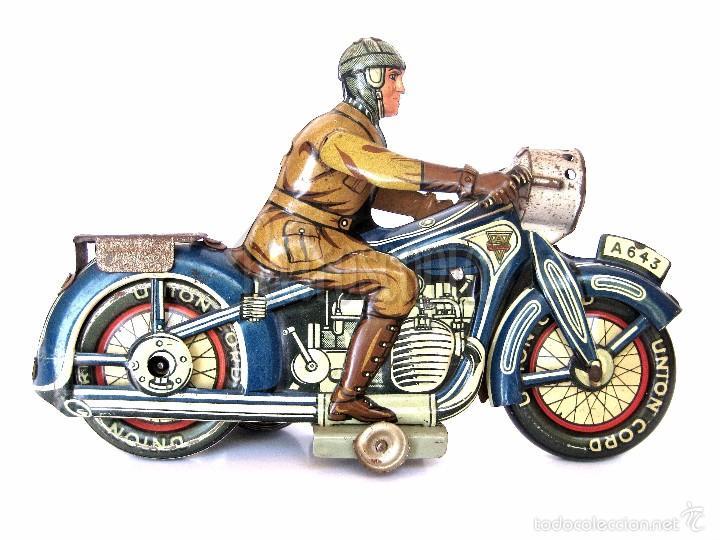 Juguetes antiguos de hojalata: MOTO MOTOCICLETA DE HOJALATA ARNOLD A 643 A CUERDA. ALEMANIA AÑOS 30 ORIGINAL - Foto 2 - 56964572