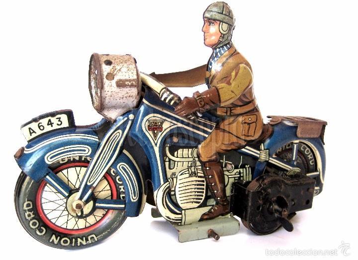 Juguetes antiguos de hojalata: MOTO MOTOCICLETA DE HOJALATA ARNOLD A 643 A CUERDA. ALEMANIA AÑOS 30 ORIGINAL - Foto 4 - 56964572