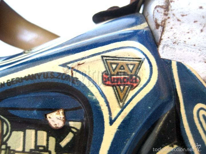 Juguetes antiguos de hojalata: MOTO MOTOCICLETA DE HOJALATA ARNOLD A 643 A CUERDA. ALEMANIA AÑOS 30 ORIGINAL - Foto 8 - 56964572