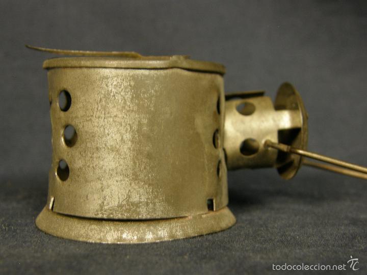 Juguetes antiguos de hojalata: farol de juguete estación tren o marina hojalata francia déposé JS 65x43x38mm ppios s XX - Foto 2 - 57084892