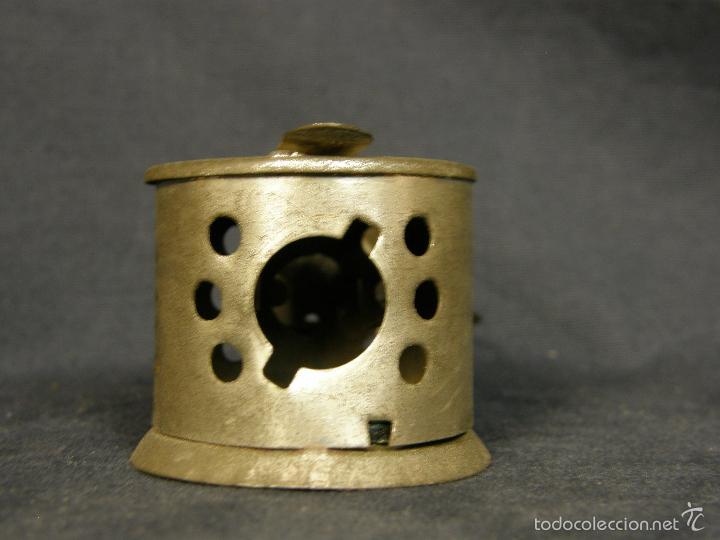 Juguetes antiguos de hojalata: farol de juguete estación tren o marina hojalata francia déposé JS 65x43x38mm ppios s XX - Foto 3 - 57084892