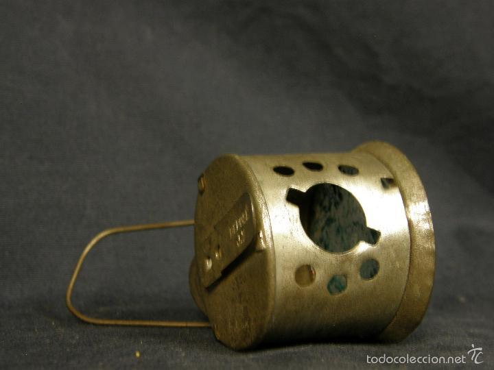 Juguetes antiguos de hojalata: farol de juguete estación tren o marina hojalata francia déposé JS 65x43x38mm ppios s XX - Foto 5 - 57084892