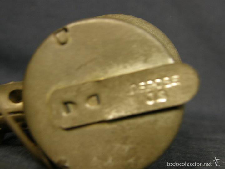 Juguetes antiguos de hojalata: farol de juguete estación tren o marina hojalata francia déposé JS 65x43x38mm ppios s XX - Foto 6 - 57084892