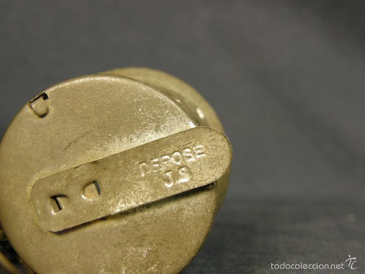 Juguetes antiguos de hojalata: farol de juguete estación tren o marina hojalata francia déposé JS 65x43x38mm ppios s XX - Foto 7 - 57084892