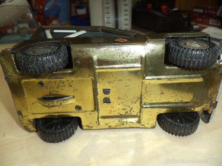 Juguetes antiguos de hojalata: Jeep Militar del Ejército de Tierra - Infantería.Payva España, a fricción.Hojalata. - Foto 4 - 57100172