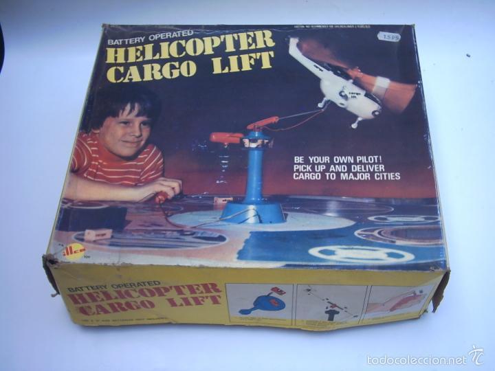 Juguetes antiguos de hojalata: SOS HELICOPTER CARGO LIFT - ILLCO - HONG -KONG-rescate - Foto 2 - 57364976