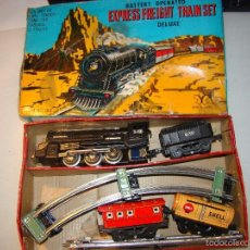 Juguetes antiguos de hojalata: ANTIGUO TREN SHELL EXPRESS FREIGHT TRAIN SET - MADE IN JAPAN. Lote 57494744