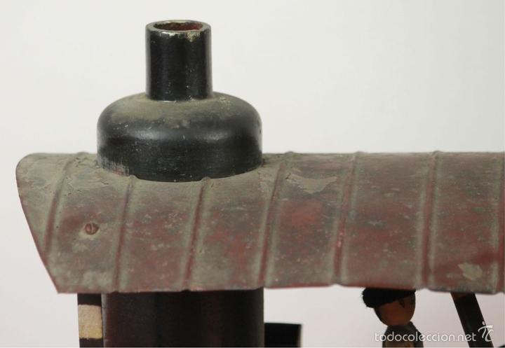Juguetes antiguos de hojalata: EXCAVADORA ARTICULADA. JUGUETE EN HOJALATA. ESPAÑA. PRINCIPIOS SIGLO XX. - Foto 5 - 57951892