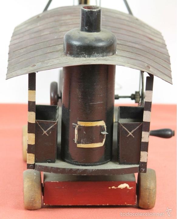 Juguetes antiguos de hojalata: EXCAVADORA ARTICULADA. JUGUETE EN HOJALATA. ESPAÑA. PRINCIPIOS SIGLO XX. - Foto 25 - 57951892