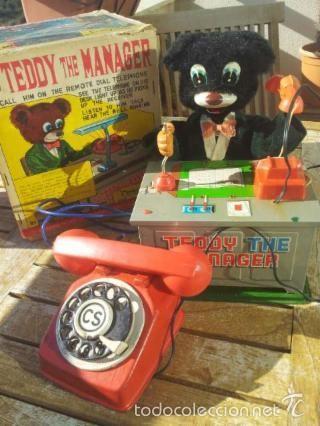 JUGUETE ANTIGUO TEDDY THE MANAGER- AÑOS 50-60S. MADE IN JAPAN. MUY RARO. (Juguetes - Juguetes Antiguos de Hojalata Extranjeros)