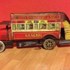 Tin Toys - Antiguo ómnibus o autobús de hojalata paya la general - 58120163