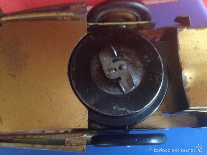 Juguetes antiguos de hojalata: Antiguo coche de hojalata a cuerda golden arrow flecha de oro.mide 50 cm - Foto 11 - 58437282
