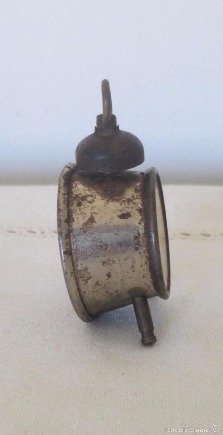 Juguetes antiguos de hojalata: Antiguo mini reloj en lata - Foto 5 - 58447837