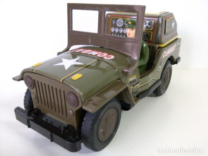 Juguetes antiguos de hojalata: Coche Hojalata Combat Jeep de Modern Toys - Japon - Foto 2 - 62701664