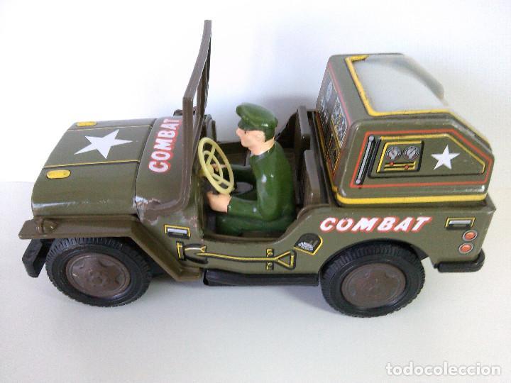 Juguetes antiguos de hojalata: Coche Hojalata Combat Jeep de Modern Toys - Japon - Foto 3 - 62701664