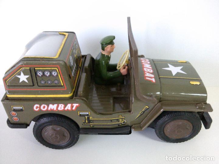 Juguetes antiguos de hojalata: Coche Hojalata Combat Jeep de Modern Toys - Japon - Foto 4 - 62701664