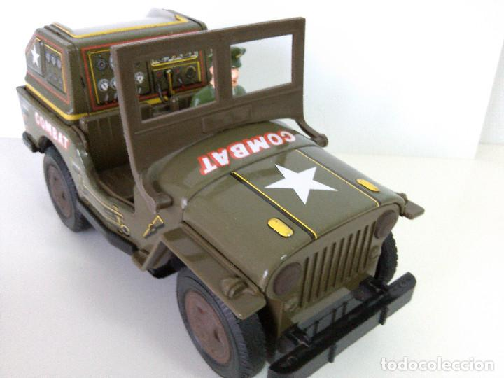 Juguetes antiguos de hojalata: Coche Hojalata Combat Jeep de Modern Toys - Japon - Foto 5 - 62701664