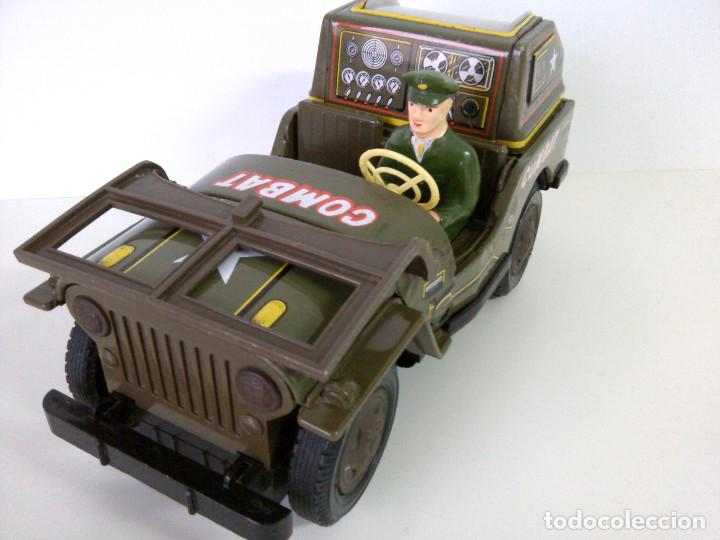 Juguetes antiguos de hojalata: Coche Hojalata Combat Jeep de Modern Toys - Japon - Foto 6 - 62701664