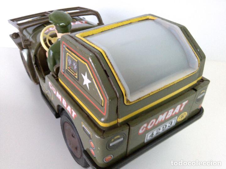 Juguetes antiguos de hojalata: Coche Hojalata Combat Jeep de Modern Toys - Japon - Foto 7 - 62701664