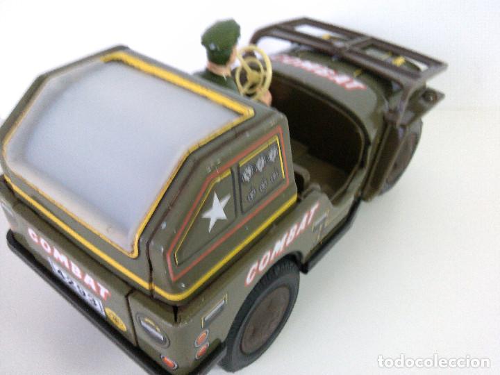 Juguetes antiguos de hojalata: Coche Hojalata Combat Jeep de Modern Toys - Japon - Foto 8 - 62701664