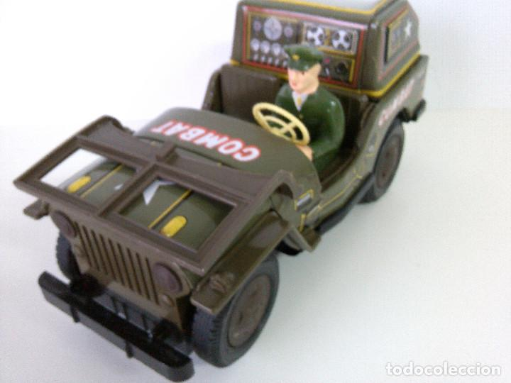 Juguetes antiguos de hojalata: Coche Hojalata Combat Jeep de Modern Toys - Japon - Foto 9 - 62701664