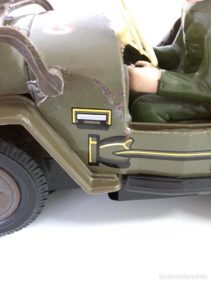 Juguetes antiguos de hojalata: Coche Hojalata Combat Jeep de Modern Toys - Japon - Foto 10 - 62701664