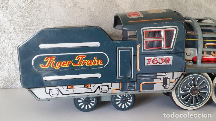 Juguetes antiguos de hojalata: Tren hojalata daiya made in Japan Tiger train - Foto 2 - 62873912