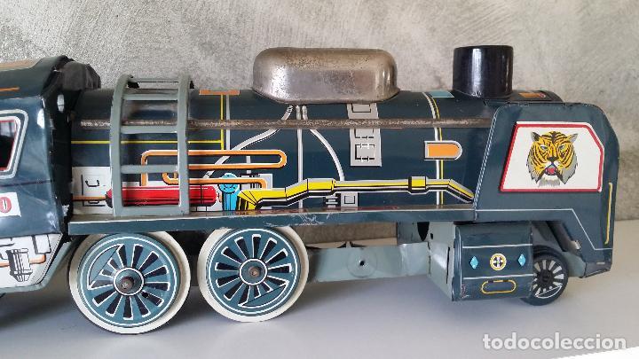 Juguetes antiguos de hojalata: Tren hojalata daiya made in Japan Tiger train - Foto 3 - 62873912