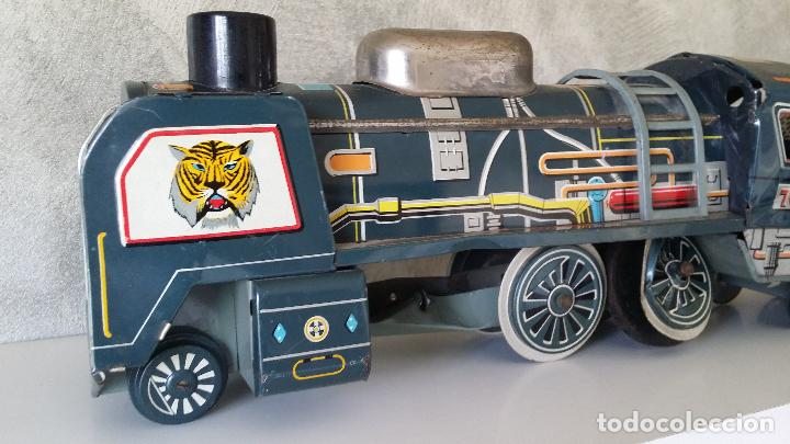 Juguetes antiguos de hojalata: Tren hojalata daiya made in Japan Tiger train - Foto 7 - 62873912