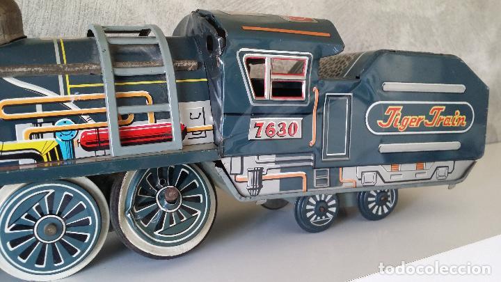 Juguetes antiguos de hojalata: Tren hojalata daiya made in Japan Tiger train - Foto 8 - 62873912