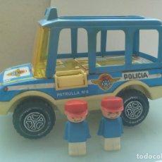 Juguetes antiguos de hojalata: BUS DE POLICIA DE OBERTOYS , MADE IN SPAIN ( PLASTICO Y HOJALATA ). Lote 63670255
