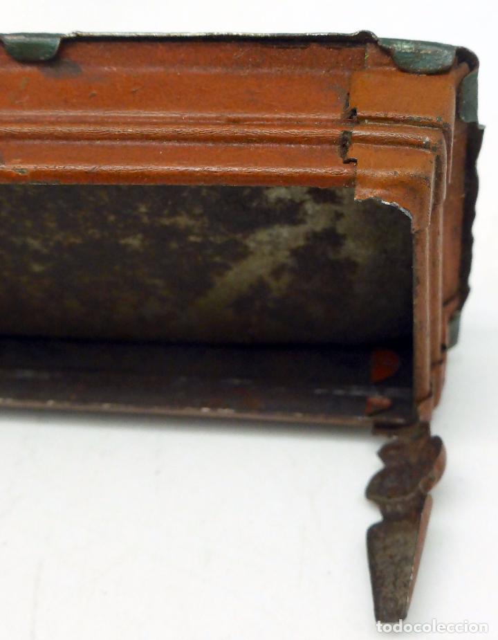 Juguetes antiguos de hojalata: Jugador billar con mesa Verdu y Cía hojalata litografiada hacia 1915 - Foto 6 - 63907931