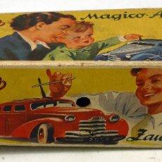 Juguetes antiguos de hojalata: CAJA VACÍA MÁGICO AUTO 2008 SCHUCO AÑOS 40 INCOMPLETA. Lote 63911071