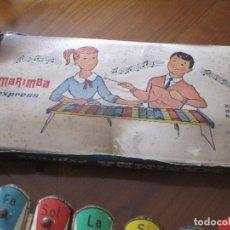 Juguetes antiguos de hojalata: XILOFÓN ANTIGUO AÑOS 40. Lote 64968563