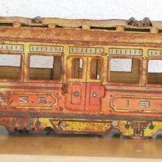 Juguetes antiguos de hojalata: ENORME TRANVIA DE RICO - RSA - ORIGINAL IBI 1932 - 39 CM. LARGO. Lote 65396931