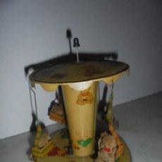 Juguetes antiguos de hojalata: (M) ANTIGUO JUGUETE DE LATA - TIO - VIVO , VER FOTGR. FALTA UN OSITO , 20X15 CM. . Lote 65739698