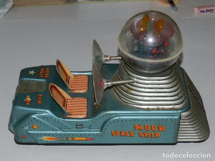 Juguetes antiguos de hojalata: (M) NAVE ESPACIAL - MOON SPACE SHIP , MOON ROCKET, MADE IN JAPAN , ORIGINAL, NO REPRODUCCION - Foto 6 - 67858957
