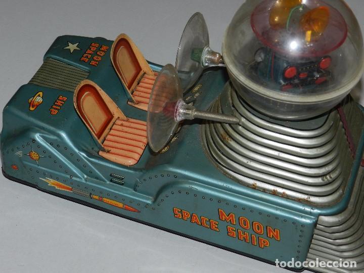 Juguetes antiguos de hojalata: (M) NAVE ESPACIAL - MOON SPACE SHIP , MOON ROCKET, MADE IN JAPAN , ORIGINAL, NO REPRODUCCION - Foto 8 - 67858957