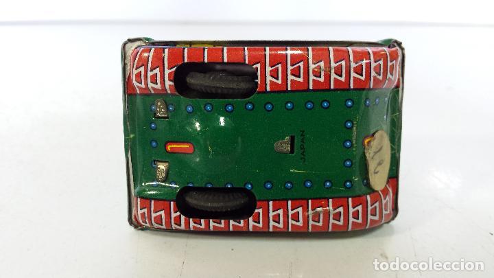 Juguetes antiguos de hojalata: ANTIGUO TANQUE DE HOJALATA DE FRICCIÓN MADE IN JAPAN - Foto 10 - 68206473