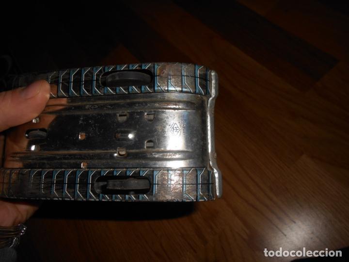 Juguetes antiguos de hojalata: TANQUE LANZA MISILES DE HOJALATA MODERN TOYS MADE IN JAPAN DE LOS AÑOS 60 CON RUEDAS - Foto 7 - 67285137