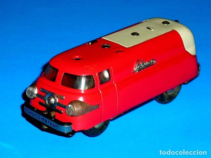 Juguetes antiguos de hojalata: Furgoneta Schuco Varianto Elektro Express 3114, eléctrico, made in Germany, original años 50. - Foto 2 - 68954725