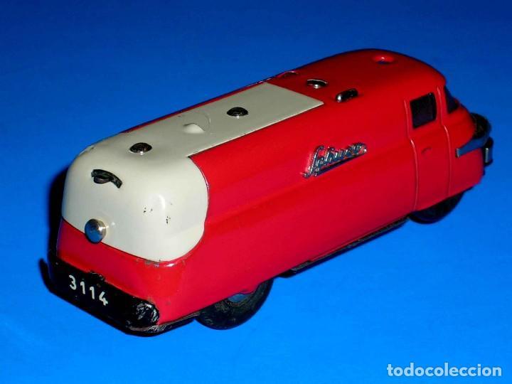 Juguetes antiguos de hojalata: Furgoneta Schuco Varianto Elektro Express 3114, eléctrico, made in Germany, original años 50. - Foto 5 - 68954725