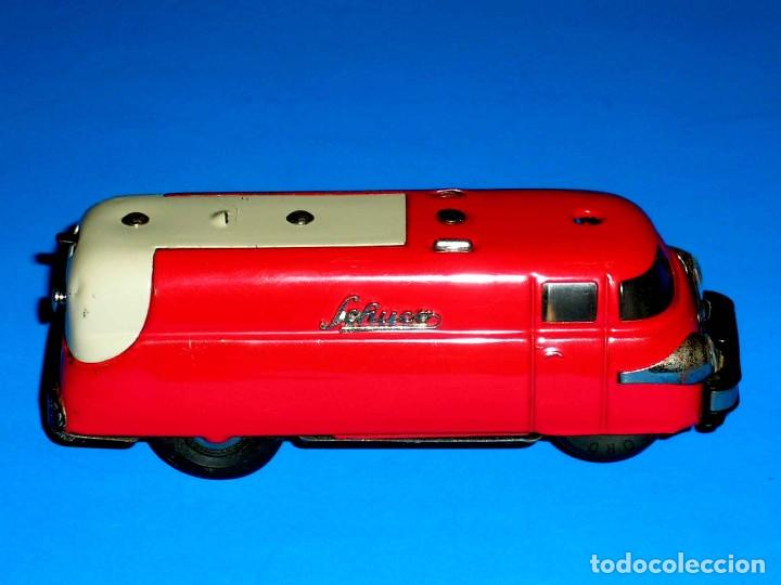 Juguetes antiguos de hojalata: Furgoneta Schuco Varianto Elektro Express 3114, eléctrico, made in Germany, original años 50. - Foto 6 - 68954725