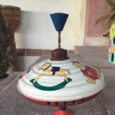 Juguetes antiguos de hojalata: PEONZA HOJALATA ALEMANIA. Lote 69091581