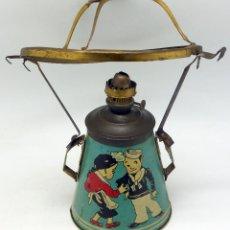 Juguetes antiguos de hojalata: QUINQUÉ HOJALATA LITOGRAFIADA GERMANY AÑOS 20 - 30. Lote 69265813