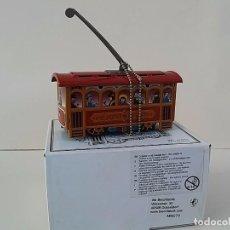 Juguetes antiguos de hojalata: PEQUEÑO TRAMVÍA. HECHO EN HOJALATA LITOGRAFIADA.. Lote 69475037