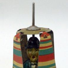 Juguetes antiguos de hojalata: CHARLOT CON HÉLICE RICO 441 HOJALATA LITOGRAFIADA CHARLIE CHAPLIN 40 BUEN ESTADO. Lote 278372133