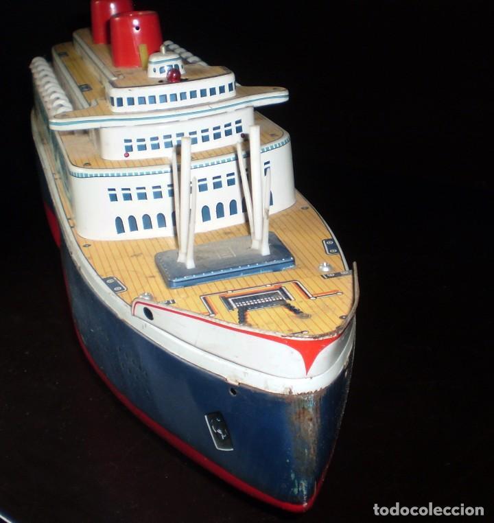 Juguetes antiguos de hojalata: Trasatlántico Modern Toys. Japan. 1950-60. Difícil. - Foto 2 - 70503501