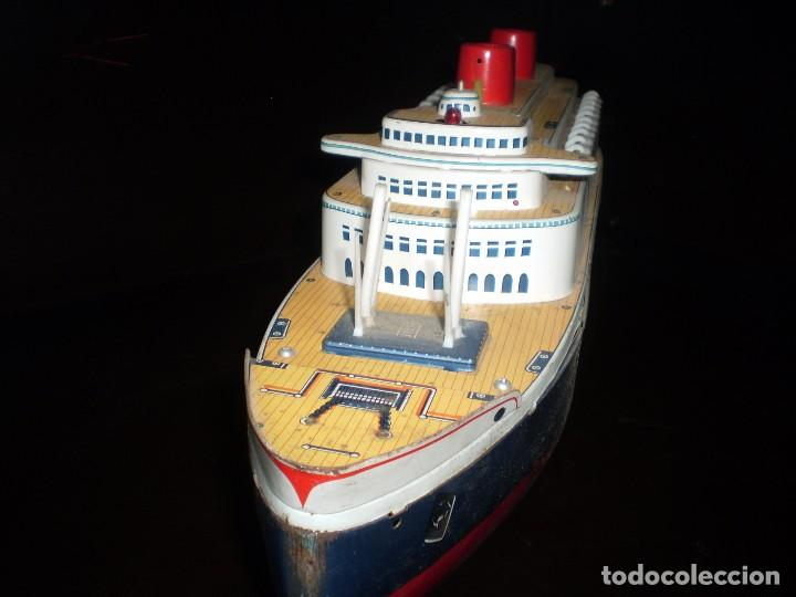 Juguetes antiguos de hojalata: Trasatlántico Modern Toys. Japan. 1950-60. Difícil. - Foto 3 - 70503501